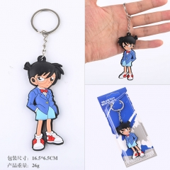 Detective Conan Cartoon Q Version Two Sides Soft PVC Anime Keychain