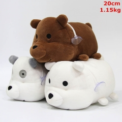 We Bare Bears Cosplay Cute Cartoon For Kids Collection Doll Anime Plush Toy (12pcs/set)