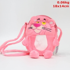 Pink Panther Cosplay Cute Cartoon For Kids Anime Plush Mini Bag