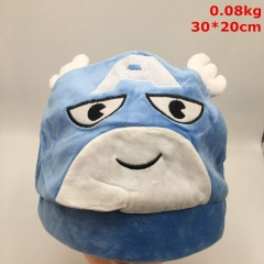 The Avengers Captain America Cosplay Cartoon Cute Anime Plush Hat