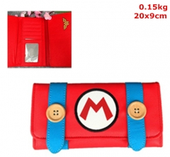 Super Mario Bros. Cosplay Game PU Purse Leather Anime Long Wallet