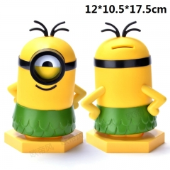 Despicable Me A Grass Skirt Minions Model Piggy Bank Original Anime Money Pot