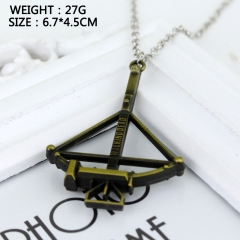 The Walking Dead Bow and Arrow Cosplay Movie Fashion Pendant Decoration Alloy Anime Necklace