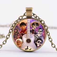 Movie Coco Cartoon Fancy Necklace Alloy Pendant