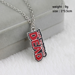 The Walking Dead Cosplay Movie Small Letter Mark Fashion Pendant Decoration Alloy Anime Necklace
