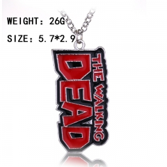 The Walking Dead Cosplay Movie Big Letter Mark Fashion Pendant Decoration Alloy Anime Necklace