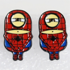 Despicable Me Cos Spider Man Cartoon Cute Alloy Earring Fashion Girls Earring