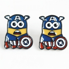 Despicable Me Cos Captain America Cartoon Cute Alloy Earring Fashion Girls Earring