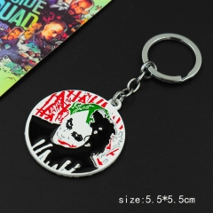Batman Joker Printed Pendant Key Ring Movie Anime Alloy Keychain