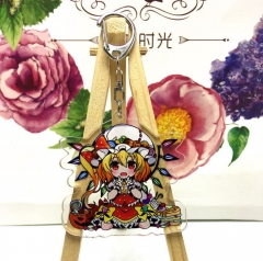 Touhou Project Flandre Scarlet Cosplay Cartoon Acrylic Anime Keychain