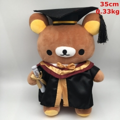 Rilakkuma Cosplay Bachelor Gown For Gift Doll Anime Plush Toy