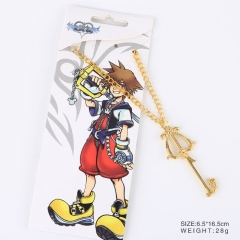 Kingdom Hearts Cosplay Cartoon Golden Pendant Anime Alloy Necklace