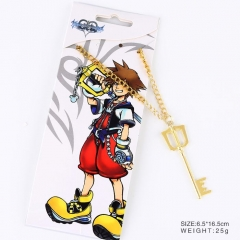 Kingdom Hearts Cosplay Cartoon Golden Sora Pendant Anime Alloy Key Chain