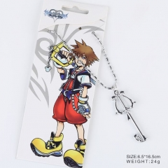 Kingdom Hearts Cosplay Cartoon Golden Pendant Anime Alloy Key Chain