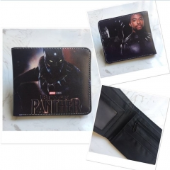 Black Panther Movie Colorful Purse Bifold Prited Anime Wallet