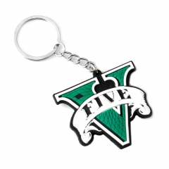 Grand Theft Auto V Cosplay Game Pendant Soft Plastic Anime Keychain