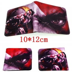 God of War Game Folding PU Purse Wholesale Anime Short Wallet