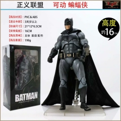 Justice League Batman Model Toys Statue with Cloak Anime PVC Figure 16cm