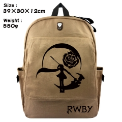 RWBY Cartoon Bag Brown Canvas Wholesale Japanese Anime Backpack Bags