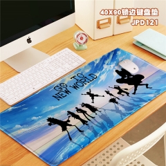 One Piece Cartoon Print Cosplay Locking Thicken Mouse Mat Anime Mouse Pad