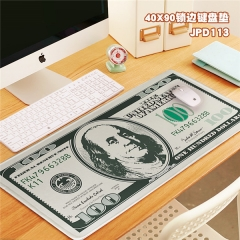Fashion Dollars Print Cosplay Locking Thicken Mouse Mat Anime Mouse Pad