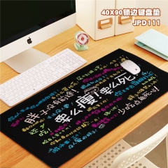 Fashion Words Print Cosplay Locking Thicken Mouse Mat Anime Mouse Pad