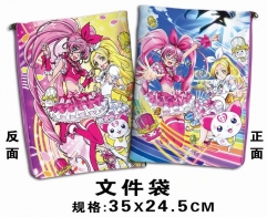 Hugtto! Precure Cosplay Cartoon For Student Office File Holder Anime File Pocket