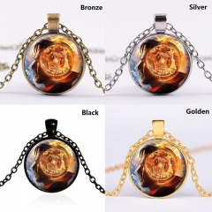 4 Colors Chain Doctor Stranger Cartoon Fancy Anime Necklace Glass Pendant