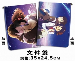 Your Name Cosplay Cartoon For Student Office File Holder Anime File Pocket