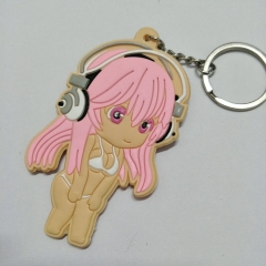 Super Sonico Girls Character Cute Soft PVC Keychain Fancy Keyring