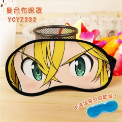 The Seven Deadly Sins Popular Cosplay Colorful Printing Eye patch Cartoon Composite Cloth Anime With Ice Bag Eyepatch