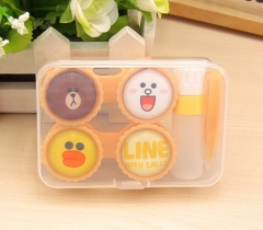 Line Town Cute Cartoon Anime Contact Lens Box Wholesale