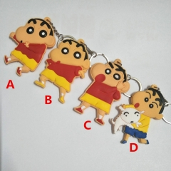 Crayou shin-chan Japan Cartoon Cute Soft PVC Keychain Fancy Keyring
