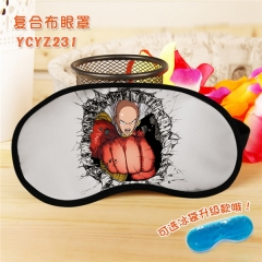 One Punch Man Popular Cosplay Colorful Printing Eye patch Cartoon Composite Cloth Anime With Ice Bag Eyepatch