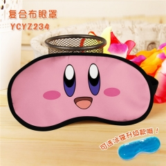 Kirby Cartoon Popular Cosplay Colorful Printing Eye patch Cartoon Composite Cloth Anime With Ice Bag Eyepatch