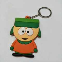 South Park Cartoon Cute Soft PVC Keychain Fancy Keyring