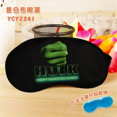 The Hulk Super Hero Cool Movie Popular Cosplay Colorful Printing Eye patch Cartoon Composite Cloth Anime With Ice Bag Eyepatch