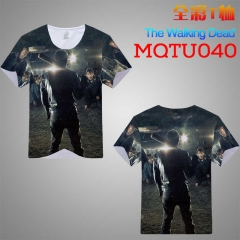 The Walking Dead Cosplay Movie Print Anime T Shirts Anime Short Sleeves T Shirts