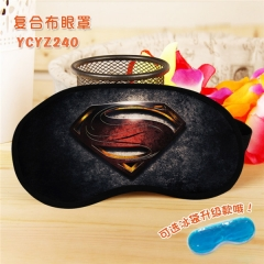 Superman Super Hero Cool Movie Popular Cosplay Colorful Printing Eye patch Cartoon Composite Cloth Anime With Ice Bag Eyepatch