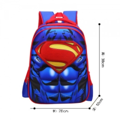 Superman Movie Super Hero Marvel Colorful Cosplay Game High Capacity Anime Canvas Backpack Bag