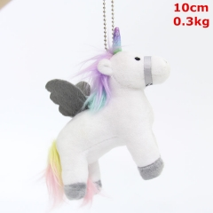 Unicorn Cosplay Cartoon Three-dimensional Doll Anime Plush Toy Pendant (10pcs/set)