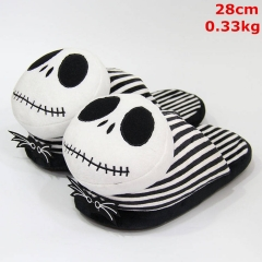 Nightmare Before Christmas Jack Cosplay Funny Cartoon For Adult Anime Plush Slipper