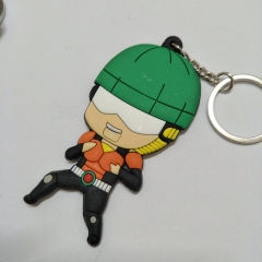 One Punch Man Cute Colorful Double Sided Anime Soft PVC Keychain Kawaii Pendant