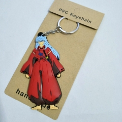 Japan Cartoon Inuyasha Anime Soft PVC Keychain Kawaii Pendant
