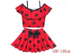 Miraculous Ladybug Cartoon Cosplay Dress Anime Fashion Cute Short Sleeves Costume Swimming Suit