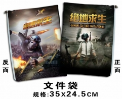 Playerunknown's Battlegrounds Cosplay Game For Student Office File Holder Anime File Pocket