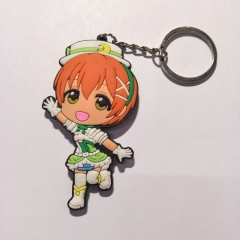 Lovelive Cartoon Anime Soft PVC Keychain Kawaii Pendant