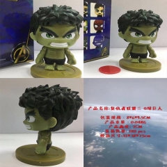The Avengers Hulk Cartoon Collection Model Statue Q-version Anime PVC Figures 7cm