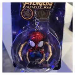 The Avenger Spider Man Figure pendant Key Ring Wholesale Anime PVC Key Chain