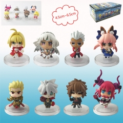 Fate Stay Night Cosplay Cartoon Collection Model Toy Anime Figure (8pcs/set)